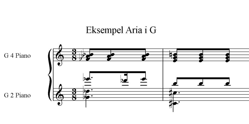 Eksempel aria g-nøkkel
